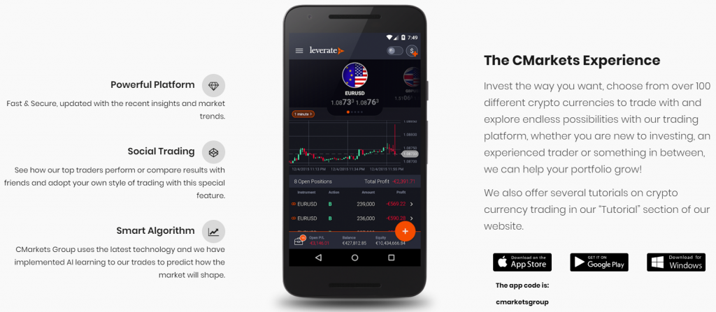 CMarkets Group apps