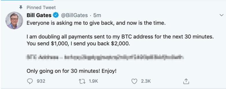 Twitter BTC scam