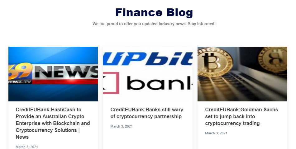 CreditEUBank news